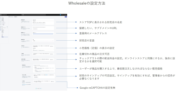 wholesale_各種設定